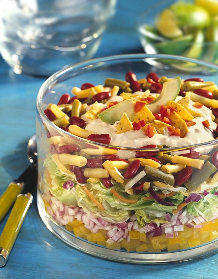 tex mex layered bean salad bean salads summer salads summer bbq tex ...