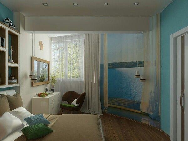 Организация спальни в условиях ограниченного пространства. Атмосфера теплого и лёгкого бриза в одном из наших проектов