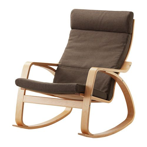 POÄNG Chaise berçante - Dansbo brun moyen, bouleau plaqué - IKEA
