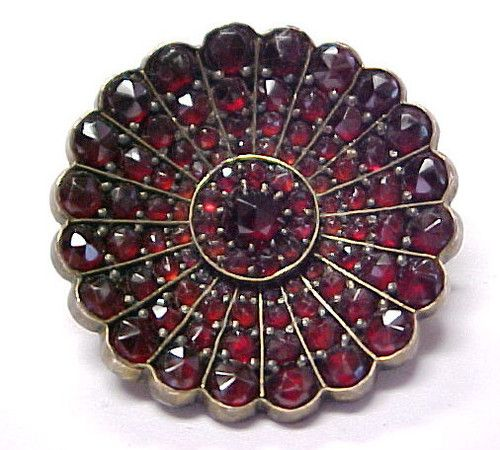 Most Fabulous 1890's Antique Bohemian Garnet Victorian Gold Filled Pin Brooch | eBay