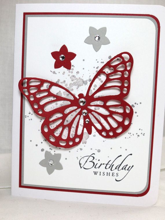Stampin Up Butterfly Framelit, Gorgeous Grunge, Sincere Salutations, Birthday Card by StampinINK