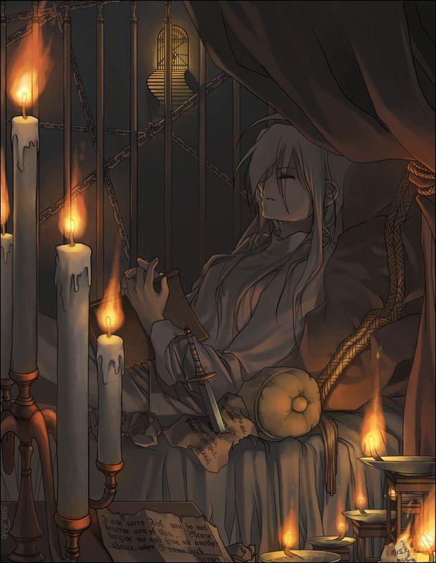 Свечи аниме картинки