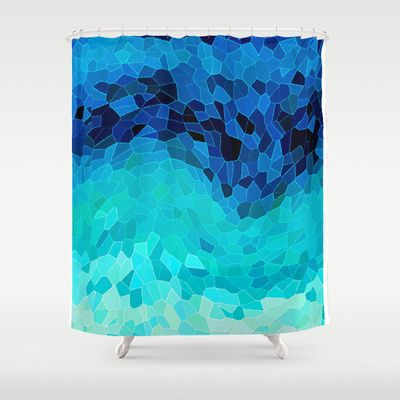 INVITE TO BLUE Shower Curtain by Catspaws - $68.00