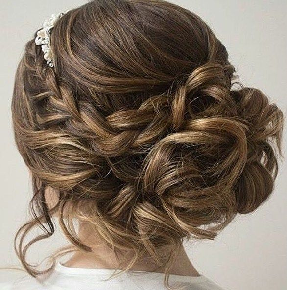 Braided updo hairstyle #weddinghair #updo #bridehair