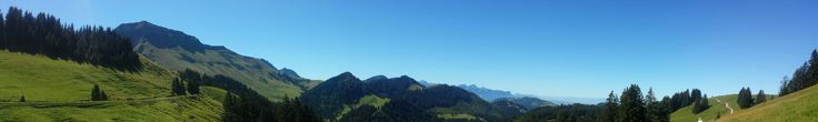 Panorama des Prealpes Fribourgeoise  dent de Lys..