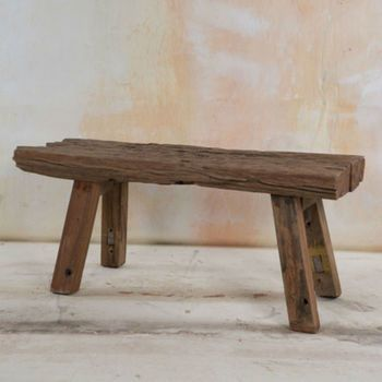 Now Reduced 30% Reclaimed Fairtrade Wooden Bench