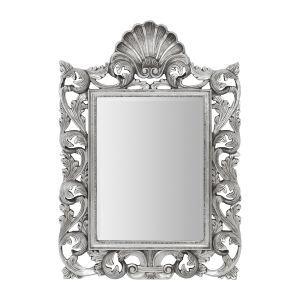 Weaver Ornate Detail Wall Mirror in Silver