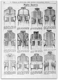 1890-1891 Vintage Fashion: H.O'Neills őszi és téli katalógus Page 24 - viktoriánus Éjszakai ruhák |  Flickr - Photo Sharing!