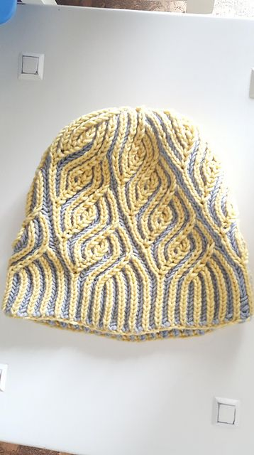 7547fe8d Ravelry: debkobe's Liguria brioche knit hat came out gorgeous! Knit in Zara  Solid!