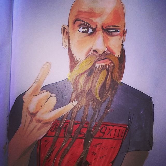 @5fdpchriskael #idol #ffdp4life #ffdp #chriskael #basist #fanart #illustration #copicmarkers
