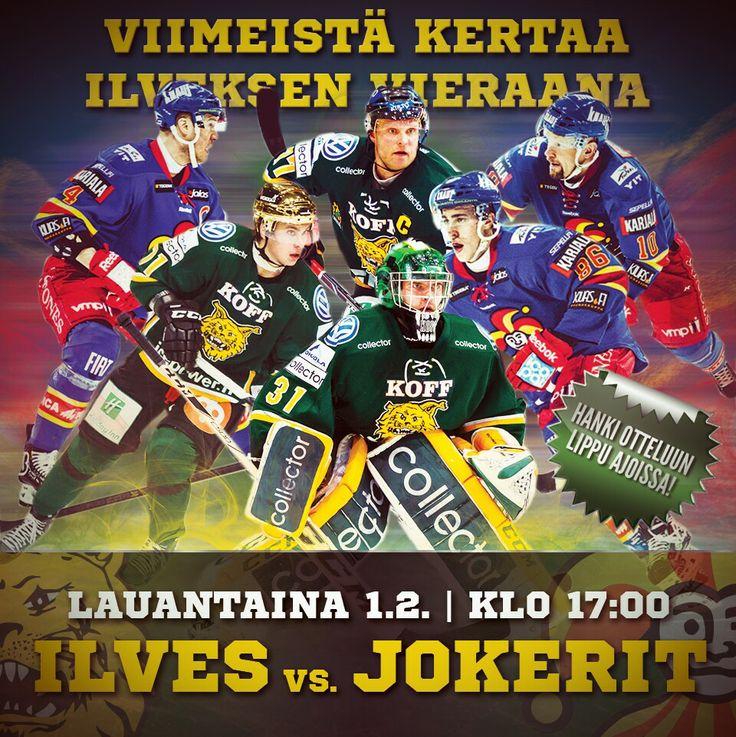 Ilves-Jokerit 1.2.2014 / #liiga #jääkiekko #hockey