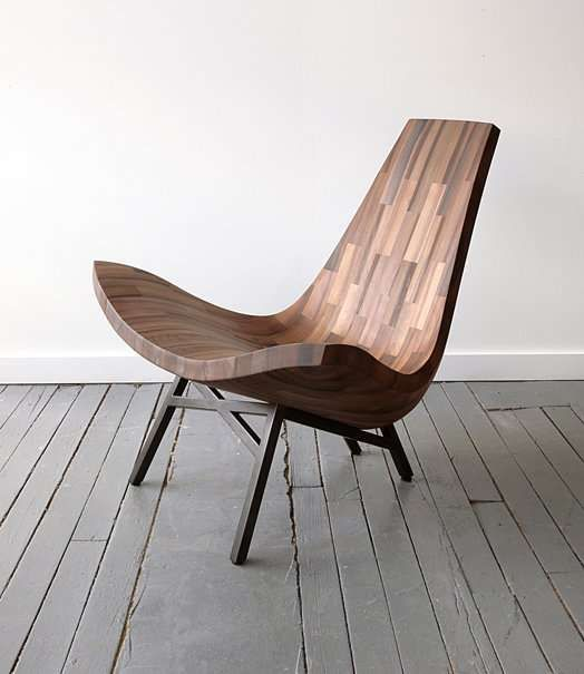 The Water Tower Chair is Made from Reclaimed New York Timber #design