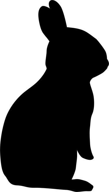 Wild image pertaining to bunny silhouette printable