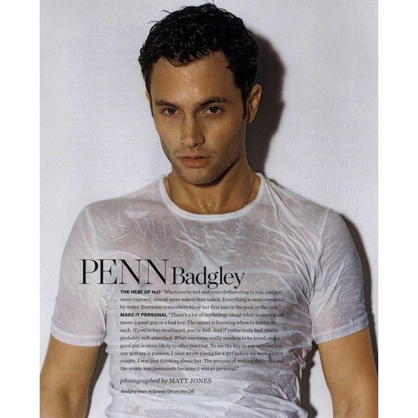 InStyle Editorial Wet! Wet! Wet!, Penn Badgley, June 2008 Shot #1 -... ❤ liked on Polyvore featuring editorials and penn badgley
