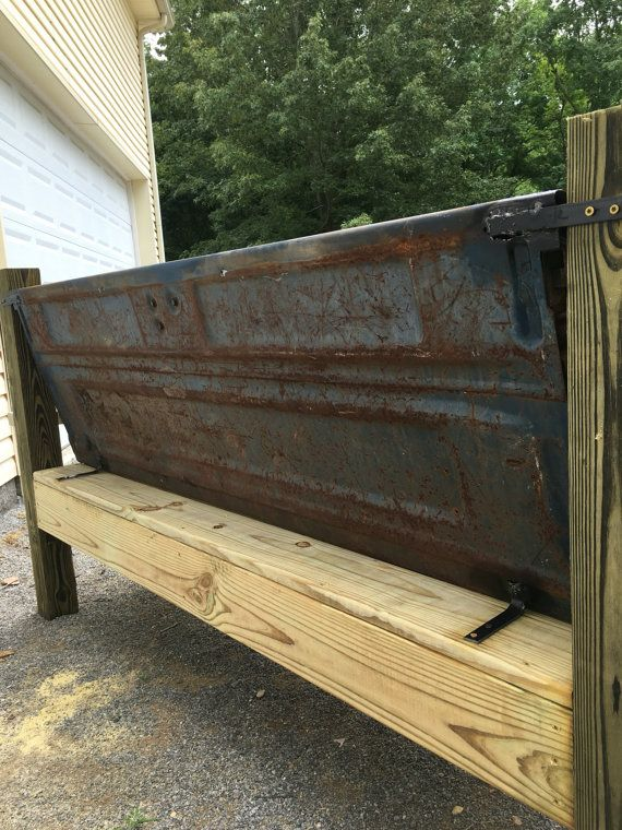 Ford Truck tailgate bench automotive rusty by UncleBrothersGarage