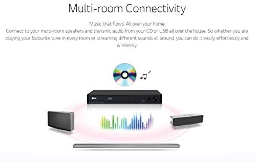 LG BP350 SMART Share Blu-Ray/DVD/CD Player, WiFi Enabled