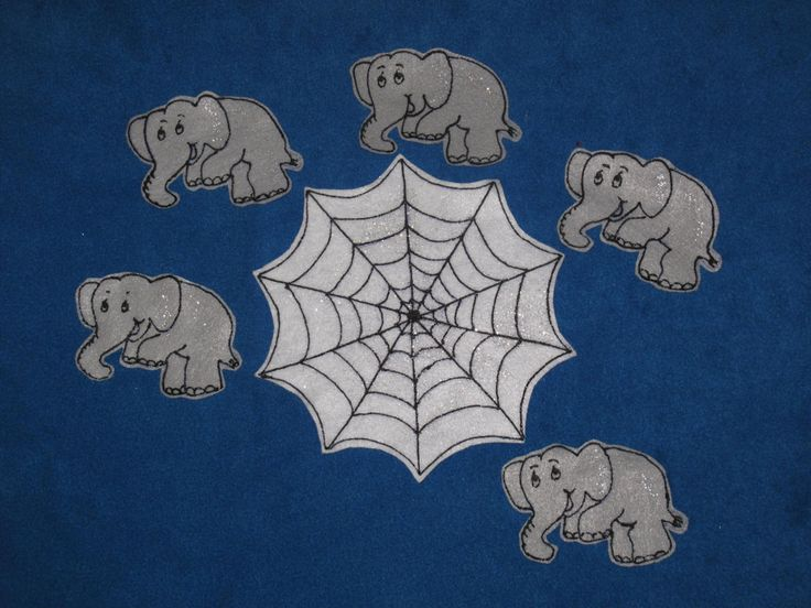 Five Elephants When Out to Play by PlayfulPathFelts on Etsy