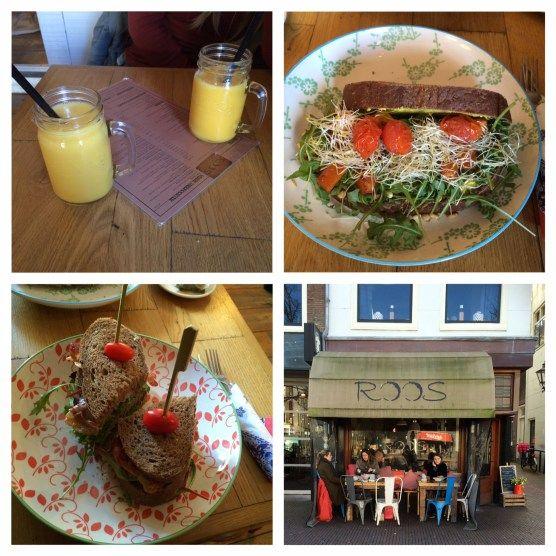 Hotspot / Leiden: ROOS. Leuke hotspot in Leiden! Midden in het centrum, heerlijke broodjes en verse sapjes en de taartjes zagen er onwijs lekker uit.