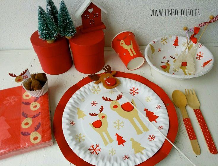 Platos de papel navidad 964 734 paltos de for Vajillas para navidad