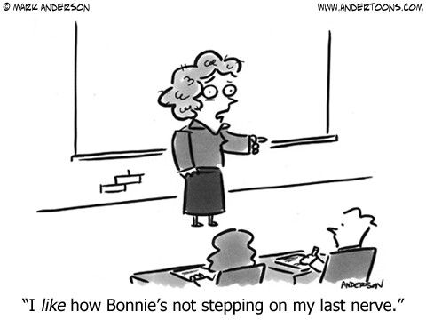 """Teacher humor - Positive Reinforcement""  This is so me! I'm always trying to state the positives that I'm noticing as opposed to the negative ;-)"