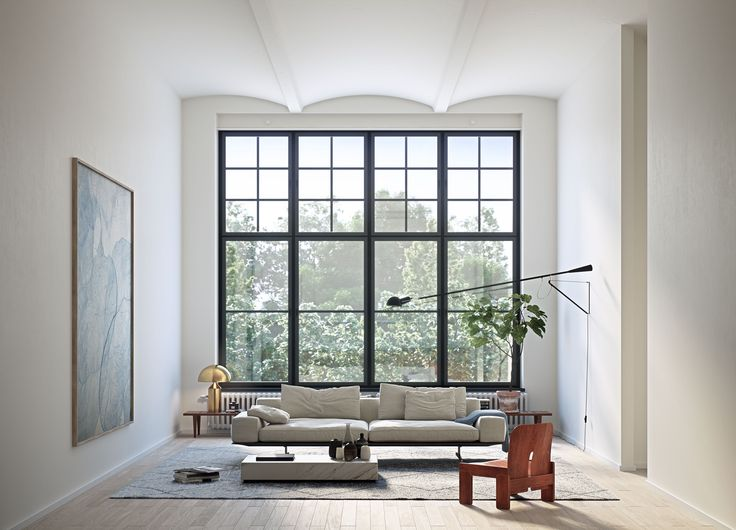 Oscar Properties #oscarproperties Stockholm - living room - sofa - flower - windows - window