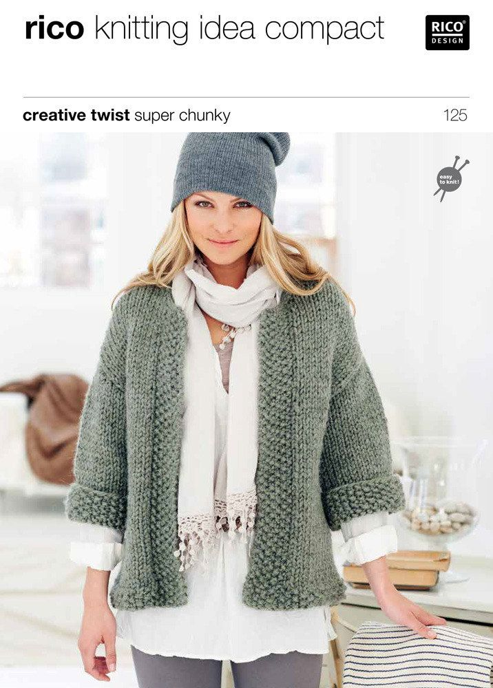 Jacket and Waistcoat in Rico Creative Twist Super Chunky - 125. Discover more Patterns by Rico at LoveKnitting. The world's largest range of knitting supplies - we stock patterns, yarn, needles and books from all of your favourite brands.