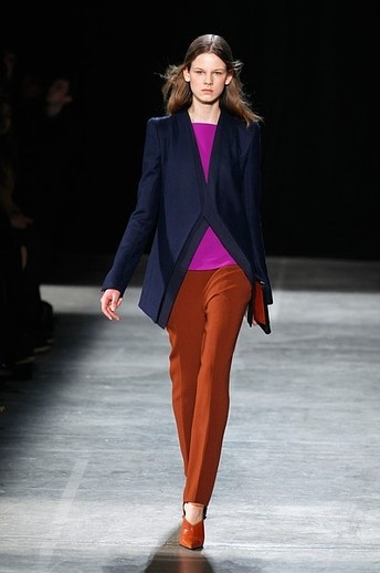 NY Fashion Week- top trends for Fall 2013: Pops of fuchsia: While several shades were prominent throughout New York Fashion Week, we loved how fuchsia repeatedly made chic appearances, often combined with neutrals such as rust and navy.
