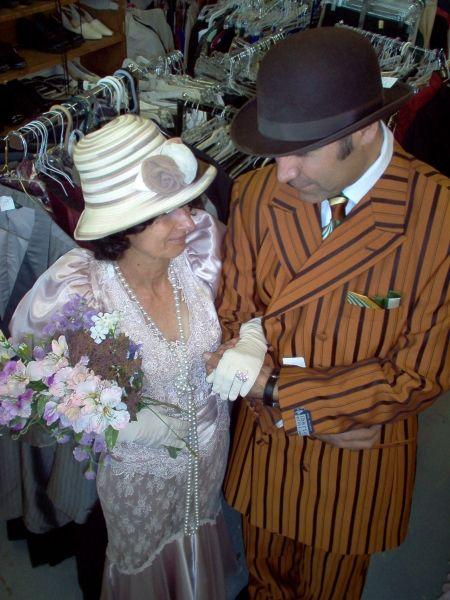 Couples Period Attire, 20s,30s & 40s Wedding Attire, Vintage Wedding Theme Ideas, 'JP' Semi-Formal Wedding Dresses, Wedding Vow Renewal Theme Ideas
