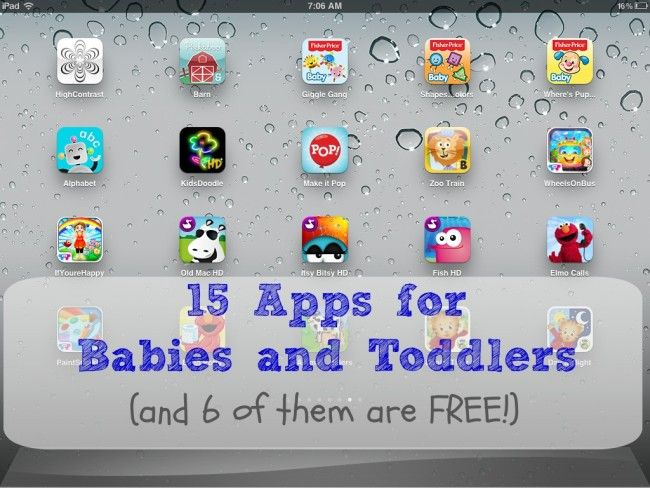 Our 15 Favorite iPad Apps for Babies and Toddlers ~ Playground Parkbench