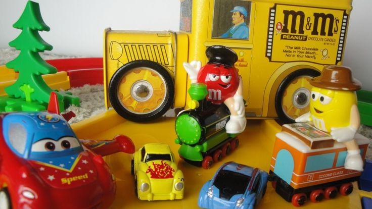 Игрушечные машинки. Мультики для детей. Учим цвета. Учимся считать