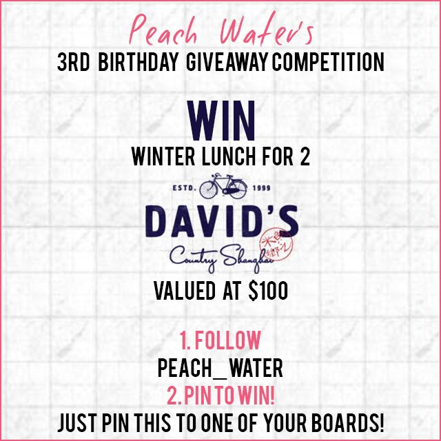 Pin to win. Full details at: http://www.peach-water.com/blog/peach3giveaway1/