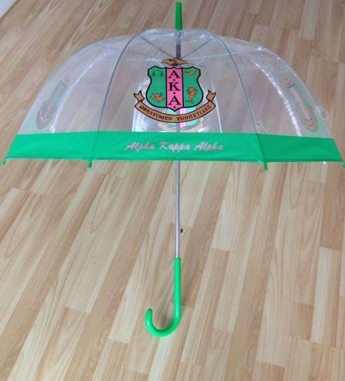 alpha kappa alpha the greek spot store black greek apparel gift jewelry  umbrella clear
