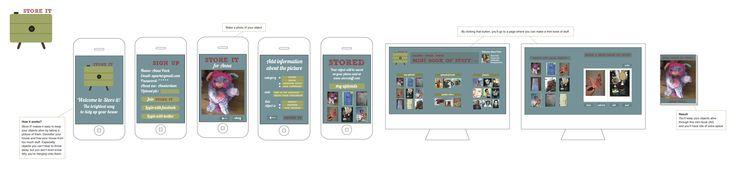 """STORE IT is een mobiele App ondersteund door een website en is gestoeld op het idee dat je spullen """"levend kunt houden"""" door ze te fotograferen. STORE IT is de oplossing; je houdt je spullen levend door ze te fotograferen, online te bewaren en/of er een miniboekje van te maken, waardoor je de spullen met een gerust hart kan weggooien. ©Charissa Sloote"""