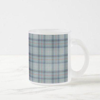 Princess Diana Memorial Tartan Frosted Glass Coffee Mug - blue gifts style giftidea diy cyo