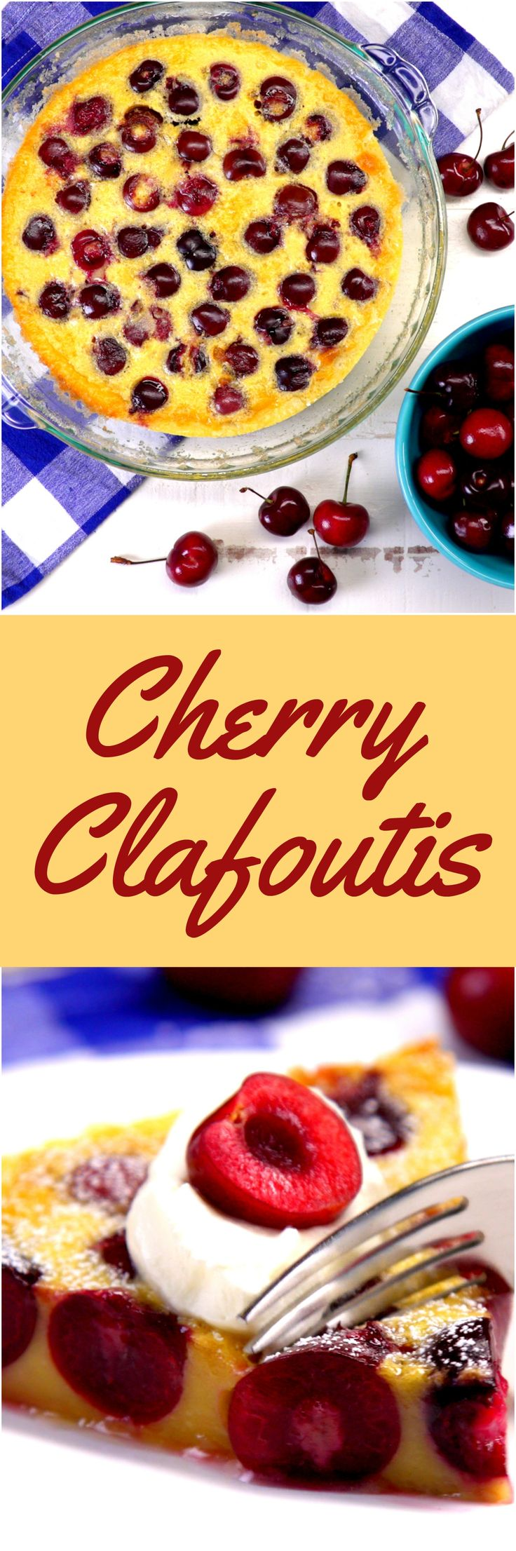 """Surprise guests with a summer dessert that's not the expected crumble or pie — make a cherry clafoutis: a rich custard studded with ripe, sweet cherries, and dusted with powdered sugar. French desserts may seem intimidating, but clafoutis (pronounced """"cla-foo-tee"""") couldn't be easier. You don't even have to do any mixing, because you can whip up the batter right in the blender."""