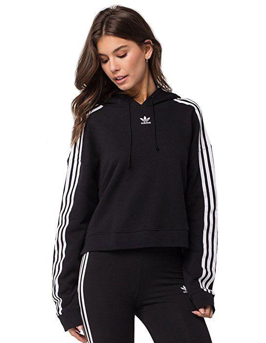 Adidas Sweats | CROPPED Hoody Noir Femme