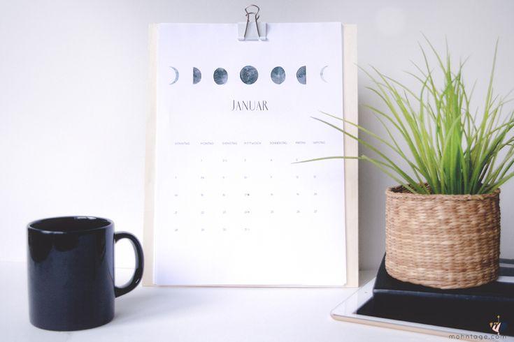 Ein kostenloser Kalender zum Ausdrucken (mit Mondphasen) und meine ganz persönlichen Highlights aus 2017!