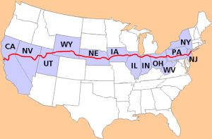Sept. 10, 1913, the Lincoln Highway opens as the first paved coast-to-coast highway.