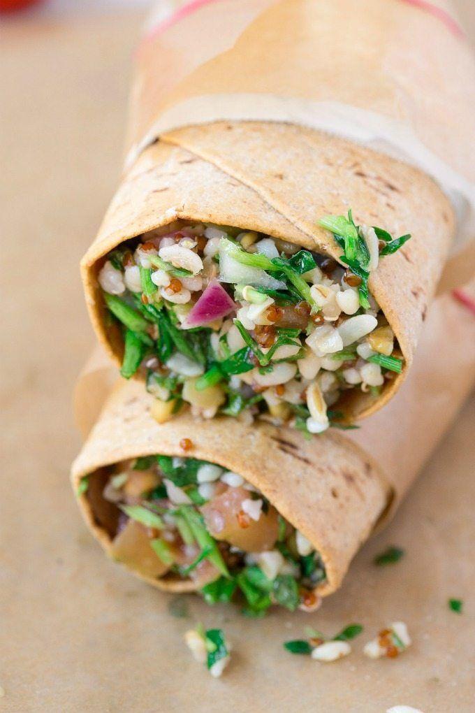 Healthy Super foods Salad Wraps (Vegan, Gluten Free)