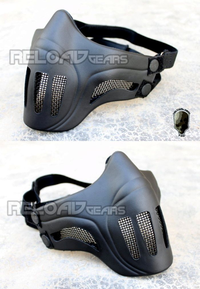 TMC Ghost Recon style Mesh Airsoft Mask (Black) [TMC1745-BK]