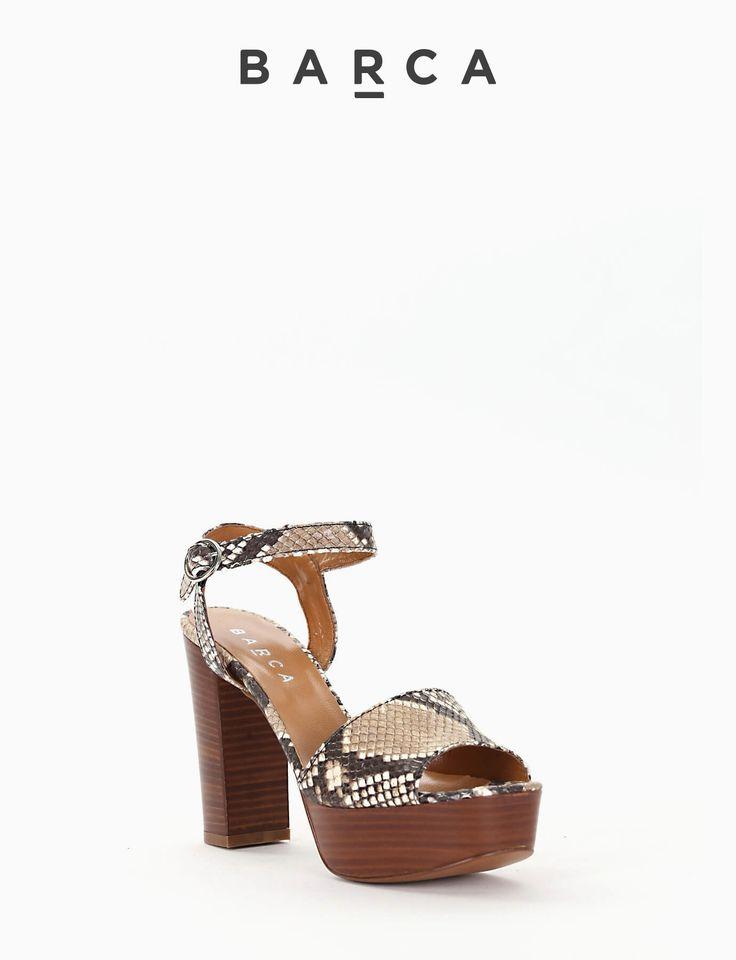 #Sandalo #tacco 80 con #plateaux 2 cm, fondo gomma e soletto in vera #pelle, tomaia in pelle stampa #pitone sabbia, cinturino di chiusura regolabile.  COMPOSIZIONE FONDO GOMMA, SOLETTO VERA PELLE  CARATTERISTICHE Altezza tacco 8 cm  COLORE #BEIGE  MATERIALE #PITONE  #fashion #fashionblogger #fashionblog #tacchi #sandali #heels #outfit #springsummer