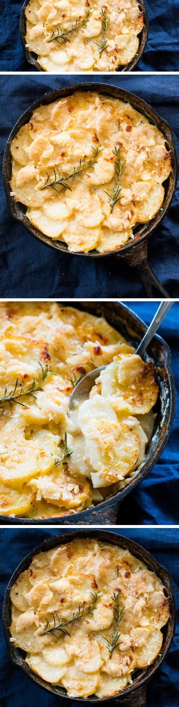The easiest, creamiest and best ever rosemary potato AU GRATIN recipe you will find. Perfect for holidays, important occasions and when you have guests over!