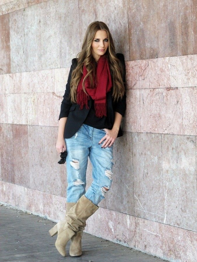 Как носить «джинсы бойфренда» этой осенью 7
