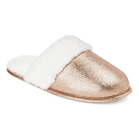Women's Scuff Slippers - Gold S - Xhilaration™ : Target
