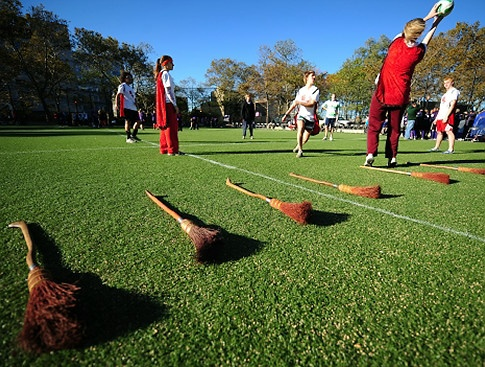 look at those beautiful brooms #Quidditch