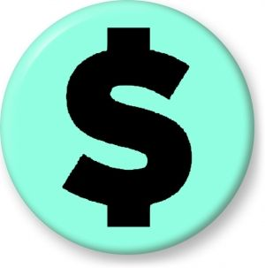Dollar currency symbol vector graphics - Button Badge - Brooch - Gift