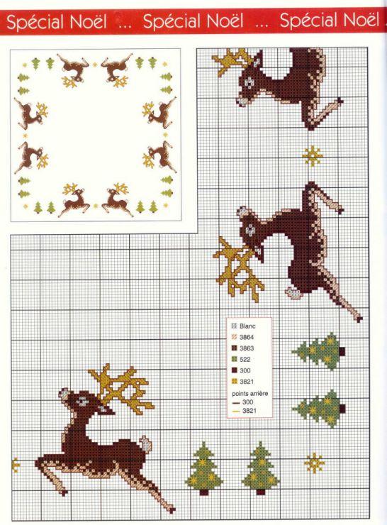 Gallery.ru / Фото #10 - олени - irisha-ira reindeer table cloth