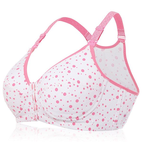 Cotton Wireless Front Button Anti Sangging Breast Feeding Tank Top Bras