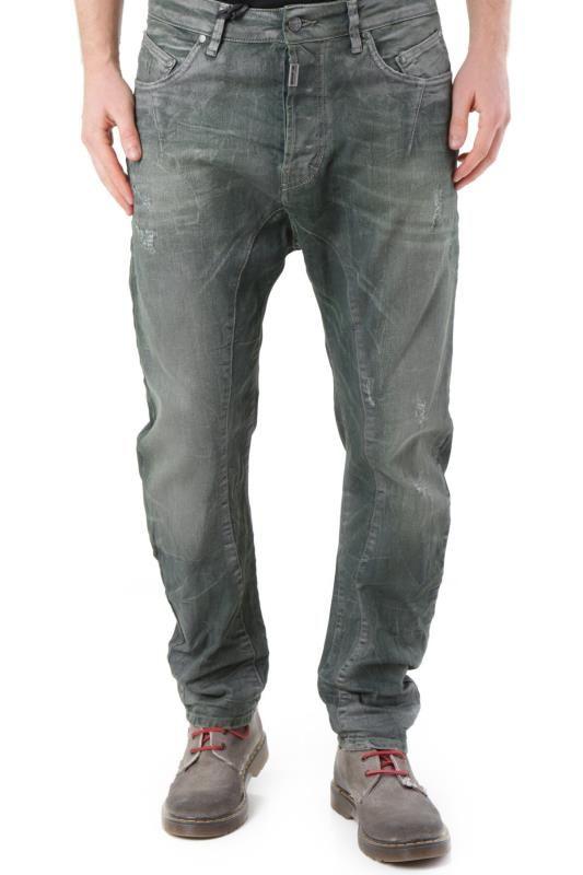 Jeans Uomo Absolut Joy (VI-P2452) colore Verde Scuro