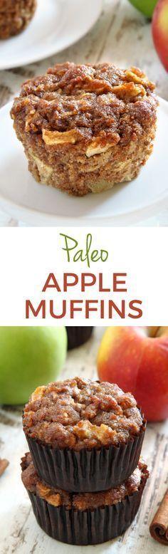 Gluten free recipe - Paleo - Dairy free - sugar free - Apple Muffins – super moist, fuss-free and maple sweetened. #ilovemaple @purecanadamaple